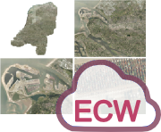 ECW hosting luchtfoto's